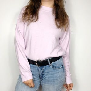 VINTAGE | Lavender Purple Mock Neck Sweater XL